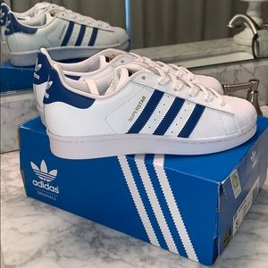 *BRAND NEW* ADIDAS SUPERSTAR WHITE & BLUE